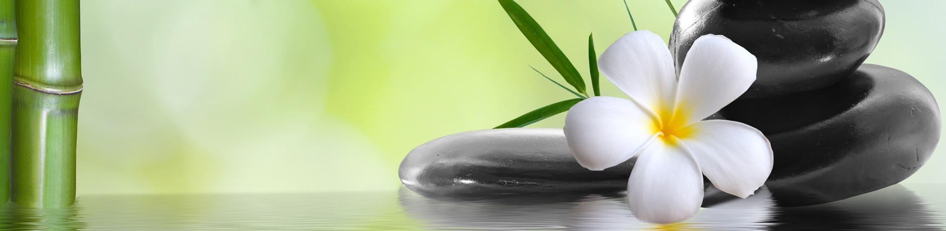 Gesundheitsreise - Zeit für mich | Steinstapel mit Lotusblüte